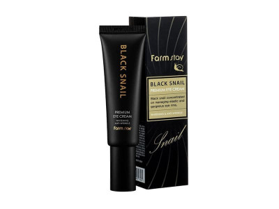 Преміум-крем для очей з муцином чорного равлика (FarmStay Black Snail Premium Eye Cream)