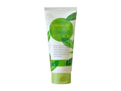 Очищаюча пінка для вмивання з екстрактом зеленого чаю (FarmStay Green Tea Seed Pure Cleansing Foam)