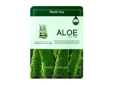 Маска для обличчя алое (FarmStay Visible Difference Aloe Mask Sheet)