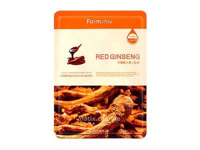 Маска для обличчя женьшень (FarmStay Visible Difference Mask Sheet Red Ginseng)