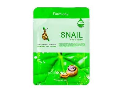 Маска для обличчя муцин (FarmStay Visible Difference Mask Sheet Snail)