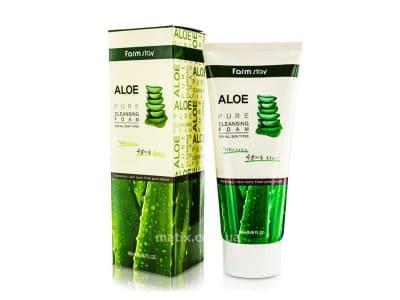 Пінка для вмивання алое (FarmStay Aloe Pure Cleansing Foam)