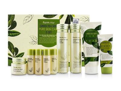 Набір з екстрактом зеленого чаю (Farmstay Green Tea Seed Pure Skin Care 9 Set)