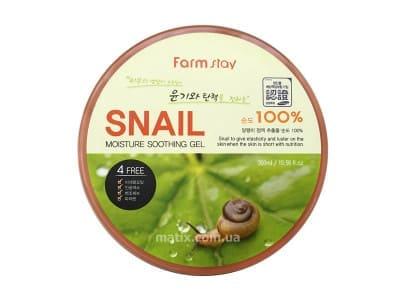 Гель універсальний з муцином равлика (Farmstay Moisture Soothing Gel Snail)