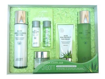 Набір для догляду за шкірою з алое (Jigott Aloe Aqua Balance Skin Care 4 Set)