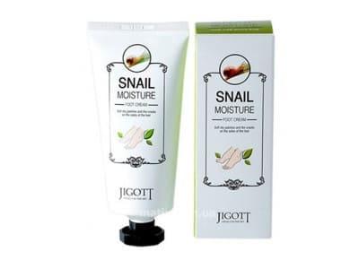 Крем для ніг з муцином равлика (Jigott Snail Moisture Foot Cream)