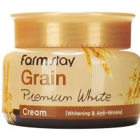 Крем осветляющий с маслом ростков пшеницы (FarmStay Grain Premium White Cream)